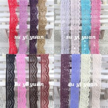 9mm-18mm width  10 yards/lot Elastic Stretch Lace trim  sewing headband garment clothes accessories more colors and styles