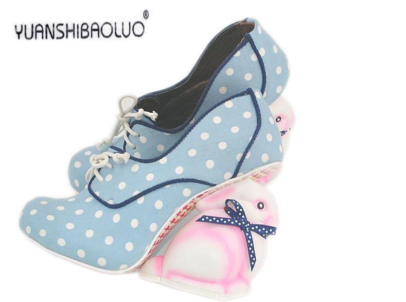 The new fashion 2015 lovely pink rabbit with higher - alternative personality sandal shoes abnormity sole shoes<br><br>Aliexpress