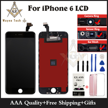 10PCS/LOT Grade AAA+++ LCD No Dead Pixel For iPhone 6 6G Display Touch Digitizer Assembly Free Shipping DHL(China)