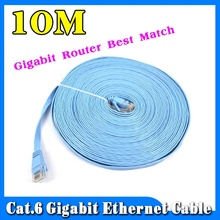 2015 10M CAT 6 Flat UTP 10/100/1000Mbps Gigabit Router Ethernet Network Cable RJ45 Patch Lan Cord For Router DSL Modem