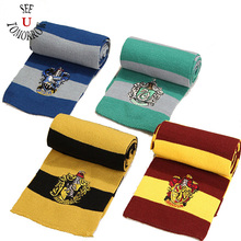 Harri Potter Scarf Scarves Gryffindor,Slytherin,Hufflepuff,Ravenclaw Cosplay Costumes Scarf Children Halloween Christmas Gifts(China)