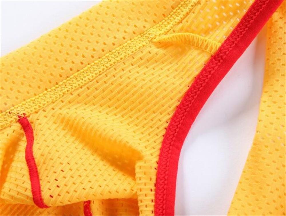 LGBT Men Breathable Mesh Jock Strap Underpants Multi-Color