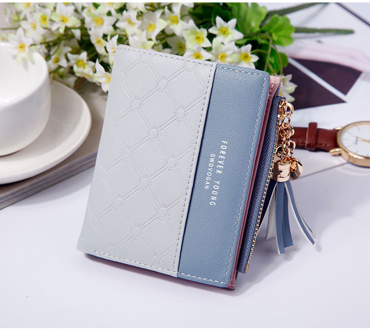 2018 Fashion Ladies Wallet Female Short Zipper Coin Purse Small Wallets Young Womens Tassel Hasp Purses Button Card Holder Pouch 79