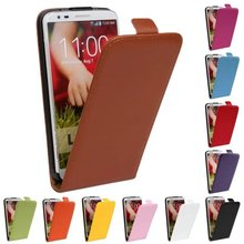Luxury Genuine Real Leather Case Flip Cover Mobile Phone Accessories Bag Retro Vertical For LG G2 D802 PS