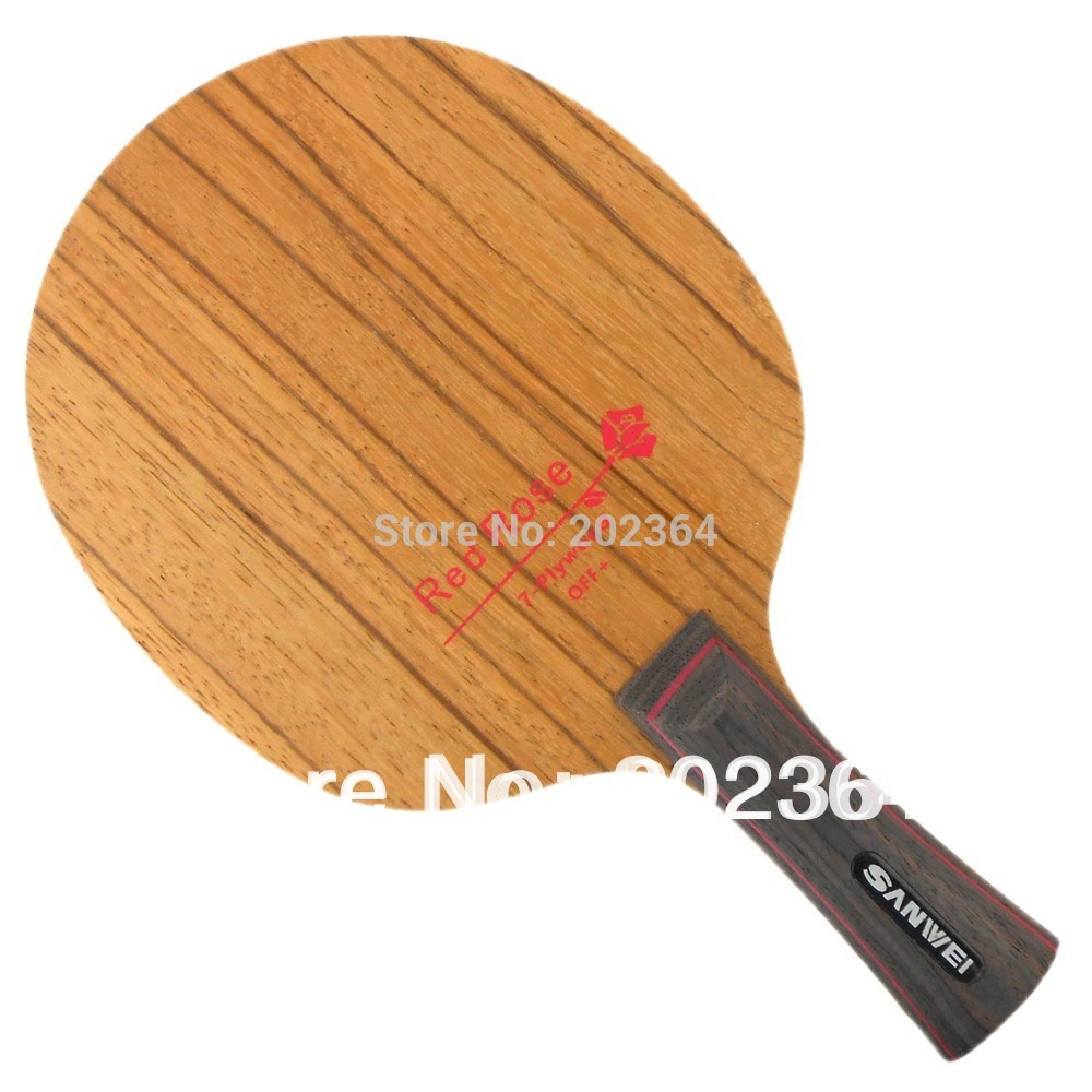 Table Tennis Blade for PingPong Racket Sanwei H6 H-6 H 6 Red Rosewood 7-Plywood Attack plus Loop OFF+ racquet sports<br>
