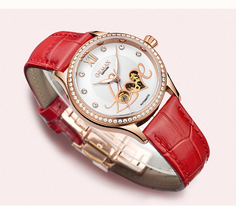 GUANQIN Watch Women Luxury Automatic Watches LOVE Shape MIYOTA Mechanical Movement Purple Sapphire 50 m Waterproof Leather Clock (11)