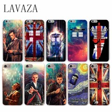 Doctor Who Union Jack Tardis Hard Cover Case Transparent for iPhone 7 Plus 6 6S Plus 5 5S SE 5C 4 4S