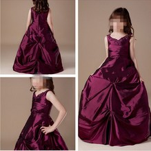Pageant Girls Spaghetti Straps Beaded Little Princess Ball Girl Dress With Pick-ups Floor Length Competitive Price