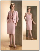 New Arrivals Pink Plus Size Mother of the Bride Dress Knee Length Formal Dress