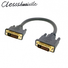 (100pcs/lot) DVI 24+1 DUAL LINK DIGITAL MALE to MALE M/M HDTV VIDEO Monitor EXTENSION CABLE 30CM(China)