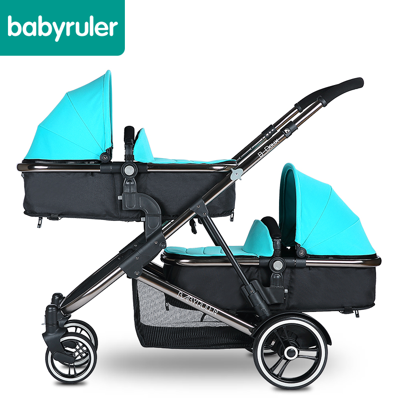Babyruler twins baby stroller double baby child st...