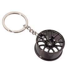 New Design Cool Luxury metal Keychain Car Key Ring Creative Wheel Hub Key Chain For Man Women Gift M471 @M23