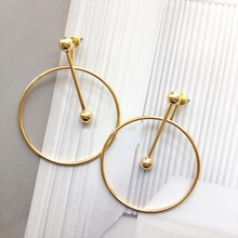 Simple Big Round Circle Drop Earrings For Women Bijoux Fashion Jewelry Fine Gifts All Match