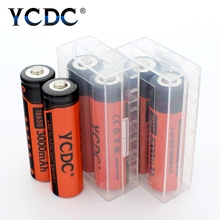 YCDC 8x 18650 Rechargeable Batteries 3.7V Li-ion 3000mAh Flashlight Power Bank Bateria 3.7 v Lithium Battery Box Case - Official Store store