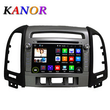 KANOR 1024*600 Android 5.1 Quad Core For Hyundai Santa Fe 7inch Capacitive Touch Screen Car Autoradio GPS Navigation Map WIFI