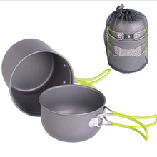 Premium Aluminum Cookware Outdoor Camping Hiking Cooking Set  Non-stick Pots Pans Bowls Portable Tableware