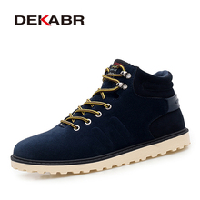 DEKABR New Arrival Lace-Up Men Fashion Boots Wear Resistant Handmade Ankle Boots Working Boots Men Casual Shoes Size 39~45(China)