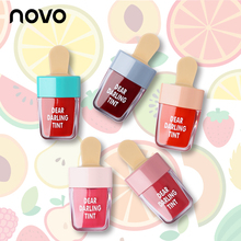 NOVO Brand New Cosmetics Ice Cream Shape Tint Lip Gloss Matte 6 Color Lipgloss Waterproof Nutritious Lipstick Rouge Makeup(China)