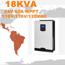 Hot Sell Solar Inverter 18Kva 14.4Kw Off Grid Inverter 24V to 120V 80A MPPT Inverter Pure SineWave Hybrid Inverter 60A ACCharger