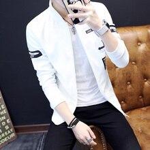 2018 Men Spring Jacket Fashion Korean Slim Fit Long Sleeve Bomber Jackets Men Hot Sale Baseball Collar Casual Windbreaker Jacket