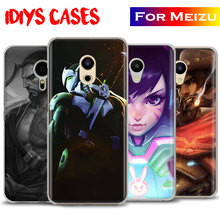 Ow Games Heroes HANZO GENJI D.va REAPER Ana New Phone case shell cover for Meizu M2 M3 M3s M3Note M2Note Pro5 Pro6 Pro6s Mx6 Mx5