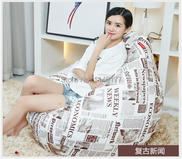 Ywxuege Living Room Retro News Sofas Bean Bag Sofa Linen Cotton Soft Sofa Bed Suit For Bed<br><br>Aliexpress