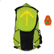 LED backpack Traffic signals displayed by remote controller on handlebar, Charging by usbcable.rechargeable.