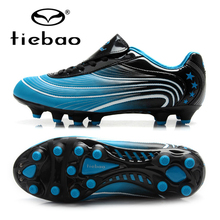 TIEBAO Brand Professional Men Women Outdoor Football Boots AG Soles Athletic Training Sneakers Soccer Cleats Shoes(China)