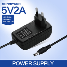 1PCS High quality 5v 2a Ac/dc Power Adapter EU Plug Charger 5v2a Supply For Tv Box Mxq Other The Free Shipping Hot Sale