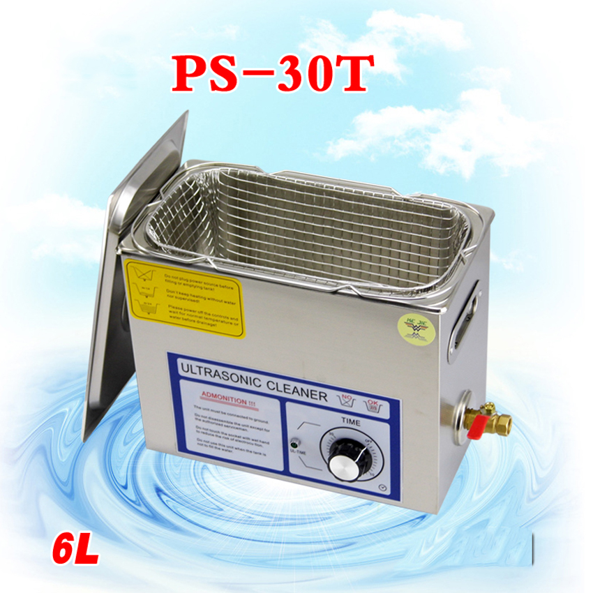 3PC110V/220V PS-30T 180W 6L Ultrasonic cleaning machines circuit board parts laboratory cleaner/electronic products etc<br><br>Aliexpress