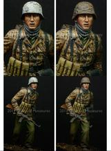 Unpainted Kit 1/16 WW2 German Arden Battle S Soldier Miniatures    figure Historical WWII Figure Resin  Kit Free Shipping