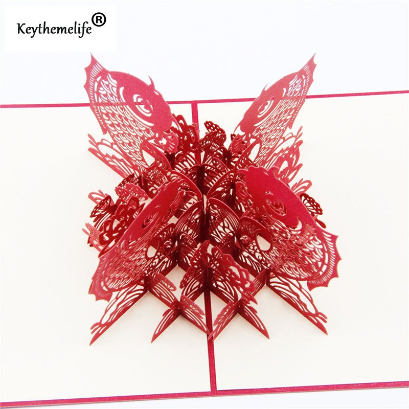 China-Red-3D-Fish-Cards-Invitations-Pop-Up-Postcards-Origami-Paper-Best-Wish-Greeting-Holiday-Gift (2)