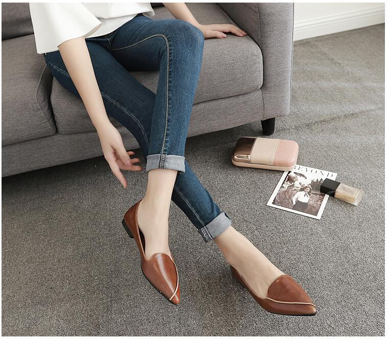 slip on shoes for women ladies woman shoes autumn flat shoes women loafers zapatillas mujer casual leather shoes women flats