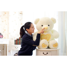 New 90cm/110cm Beautiful Cute Heart Teddy Bear Incleded Soft Toys Cute Plush Kids Toy Doll For Valentine' s Day Gift