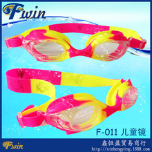 2016 lovely animal silicone straps multicolors teenagers kids swimming goggles with plastic box package 7 colors option