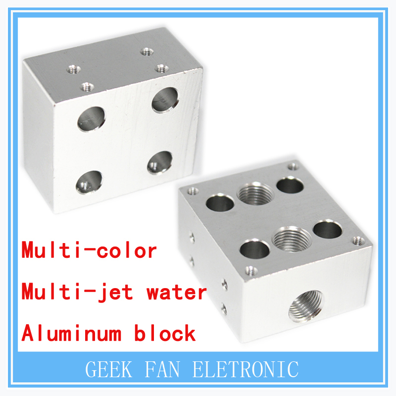3D printer parts  3D Kraken 4 nozzle multi-color multi-jet water hot and cold extrusion heatsink aluminum block DIY<br><br>Aliexpress