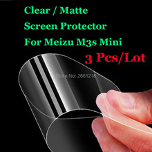 "3 Pcs/Lot New HD Clear / Anti-Glare Matte Front Screen Protector Touch Film Protection Skin For Meizu M3s / M3s Mini 5.0""(China)"