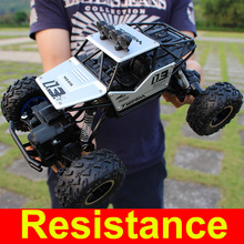 1:16 4WD RC Cars Alloy Speed 2.4G Radio Control RC Cars Toys Buggy 2017 High speed Trucks Off-Road Trucks Toys for Children Gift(China)