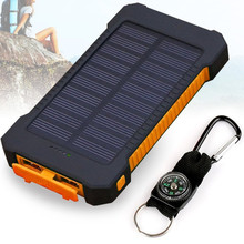 Power Bank 20000mah Powerbank External Battery Pack Portable Backup Charge  Dual USB solar power bank for Mobile iPhone