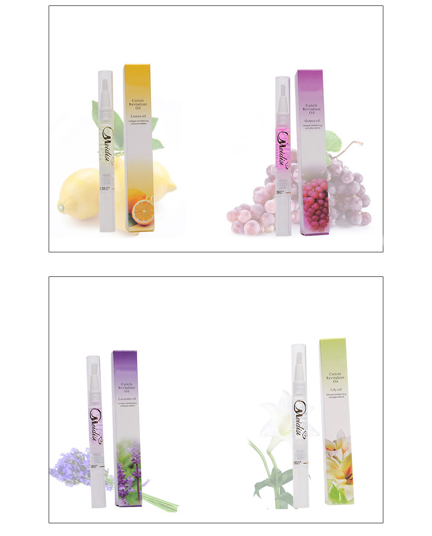 Flower Fruit Nail Nutrition Oil Pen Moisturizing Cuticle Revitalizer Anti-hangnail Nail Soften Treatment Oil Manicure Protector 19