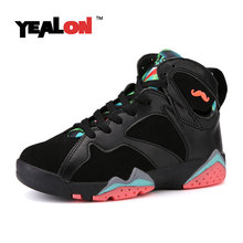YEALON Womens Basketball Shoes Sneakers Women High Top Shoes Zapatillas Baloncesto Mujer Athletic Training Boots Black
