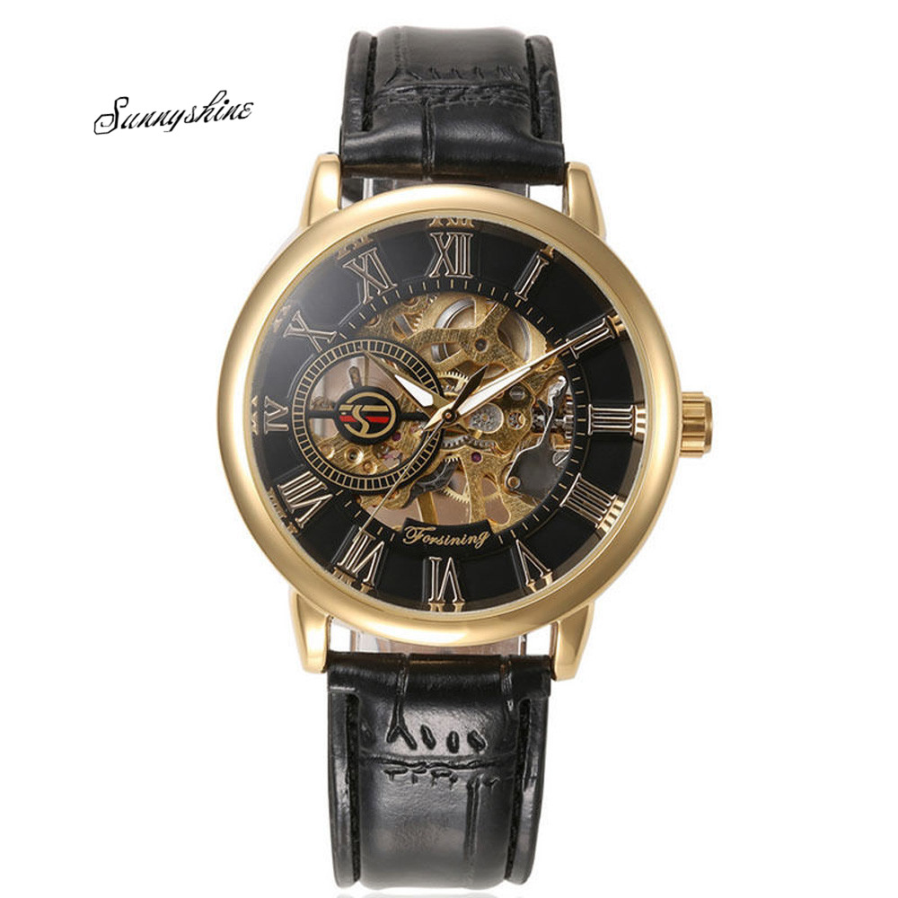 Luxury Men Watches Steampunk Skeleton Stainless Steel Automatic Mechanical Wrist Clock wholesale v<br><br>Aliexpress