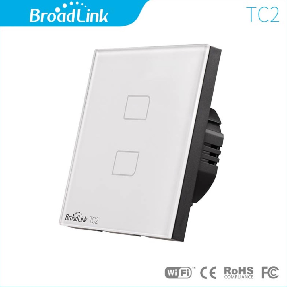 Smart Home Broadlink TC2 Remote Switch, 1 Gang 1 Way Remote Control WallTouch, Light Switch, EU Standard Wall Switch x<br><br>Aliexpress
