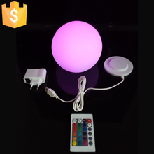 15cm led furniture led ball Night Light outdoor Swimming pool globle round ball waterproof Rechargeable 16 color changing 1pc(China)