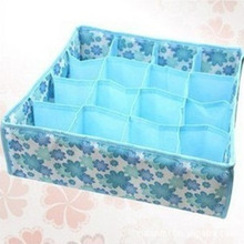 Practical 12 Cell Socks Underwear Ties Drawer Closet Home Organizer Storage Box Case Blue  Free SHipping