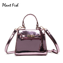 Patent Leather Light Women Crossbody Bags Mirror Surface Cshoulder Bags Hand Bag Women-messenger-bags Bolsa Feminina