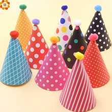 New!11PCS/Set Colorful Mini Birthday Hat DIY Paper Hats For Photograph&Kids Birthday/Wedding/Christmas Party Decoration Supplies