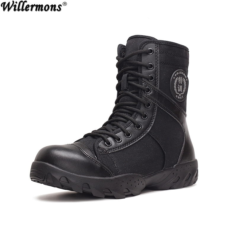 Summer Outdoor Men's Breathable High Top Military Tactics Boots Men Fashion Army Combat Boots Shoes Botas Hombre(China (Mainland))