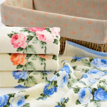 2016 High Quality 34*75cm Soft Cotton Face Flower Towel Bamboo Fiber Quick Dry Towels