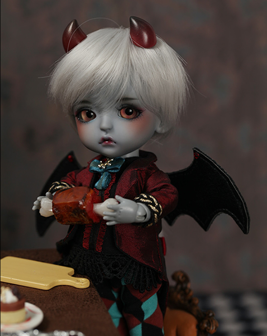 flash sale!free shipping!free makeup&amp;eyes!top quality bjd 1/8 baby doll lati Monster House ver. Lea grey Hell Kid yosd hot toy<br><br>Aliexpress